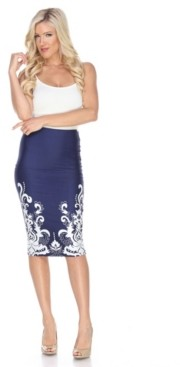 White Mark Jordan Pencil Skirt