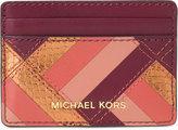 MICHAEL Michael Kors Marquertry Patchwork Jet Set Travel Card Case
