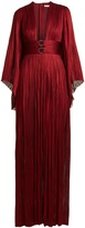 Maria Lucia Hohan Charlize kimono-sleeve pleated tulle gown