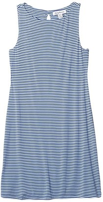 Tommy Bahama Cassia Stripe Sheath Dress Short Sleeve (Light Sky) Women's Clothing