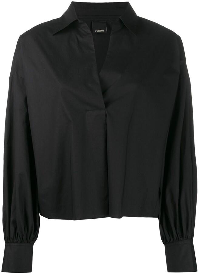 Pinko fringed boxy-fit blouse