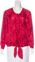 Brochu Walker Silk Long Sleeve Blouse