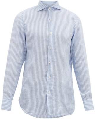 Finamore 1925 - Gaeta Striped Linen Shirt - Mens - Blue Multi