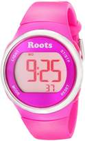 Roots Women's 1R-AT405PI1P Cayley Digital Display Quartz Pink Watch