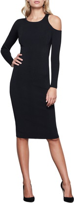 Good American Cold Shoulder Long Sleeve Body-Con Dress