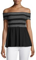 Bailey 44 Metabolic Smocked Top, Black
