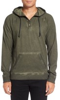 Michael Stars Men's Faded Henley Hoodie