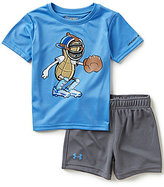 Under Armour Baby Boys 12-24 Months Peanut Catcher Short-Sleeve Tee & Shorts Set