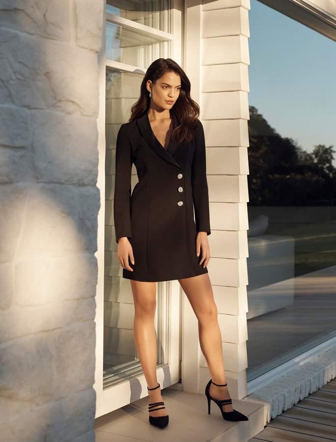 Ever New Milla Tuxedo Diamante Dress