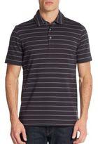 Saks Fifth Avenue Striped Pique Cotton Polo Shirt