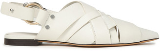 3.1 Phillip Lim Woven Leather Slingback Point-toe Flats