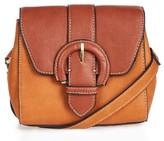 Topshop Vinny Faux Leather Saddle Bag - Brown