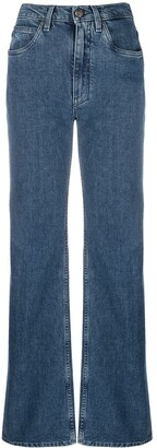 Etro High-Waisted Bootcut Jeans