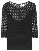 Velvet Ailley macramé lace blouse
