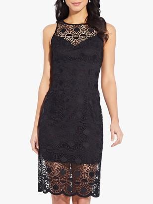 Adrianna Papell Sunrise Lace Sheath Mini Dress