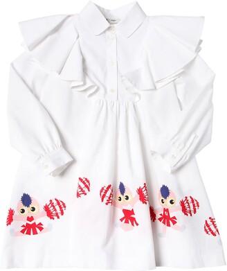 Fendi Cheer Printed Cotton Poplin Shirt Dress