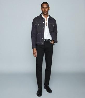 Reiss Chester - Four Pocket Denim Jacket in Indigo