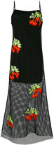 House of Holland embroidered mesh dress - women - Polyester/Cotton - 6