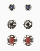 Charming charlie Etched And Stone Earring Set