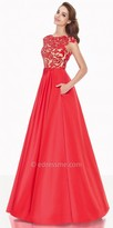 Tarik Ediz Rose Evening Dress