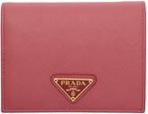 Prada Pink Saffiano Print Bifold Wallet