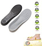 NUOLUX Memory Foam Shoe Insole Orthotics Arch Pads Sport Pain Relief(Black Grey)