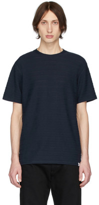 Norse Projects Navy Jacquard Niels T-Shirt