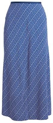 Dvf Diane Von Furstenberg Mae Geometric Midi Skirt