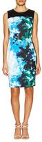 T Tahari Dakota Front Print Sheath Dress