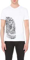 Alexander McQueen Butterfly skull cotton-jersey t-shirt