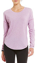 Lucy Final Rep Jewel Neck Long Sleeve Solid Tee