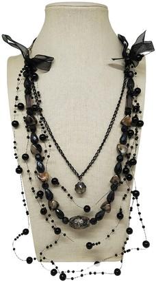 Nipon Boutique Black Metal Long necklaces