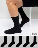 New Look Socks In Black 5 Pack