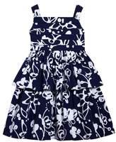 Oscar de la Renta Girl's Scribbles Sleeveless Dress