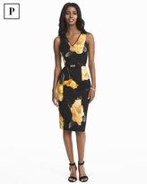 White House Black Market Petite Floral Sheath Dress