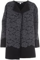 Diane von Furstenberg Lace Overlay Coat