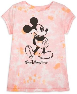 Disney Mickey Mouse Tie-Dye T-Shirt for Girls Walt World Pink