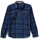 O'Neill Glacier Plaid Long-Sleeve Snap-Front Superfleece Flannel Shirt