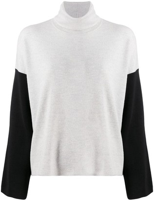 Eileen Fisher Two-Toned Knitted Jumper