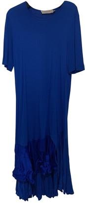 Preen Blue Cotton Dress for Women