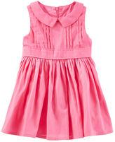Osh Kosh 2-Piece Pleated Peter Pan Collar Dress