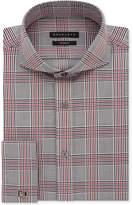 Sean John Men's Regular Fit Broadcloth Check French Cuff Dress Shirt