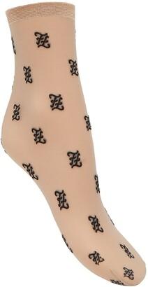 Fendi Karligraphy motif socks