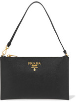 Prada Textured-leather Pouch - Black