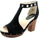 Jambu Sheila Women Open Toe Leather Black Sandals.