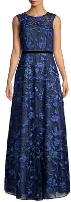 Aidan Mattox Sleeveless Floral Printed Dress