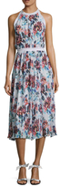 Mary Katrantzou Floral Print Pleated Midi Dress