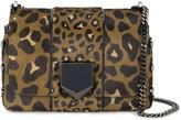 Jimmy Choo Leopard Print petite Lockett shoulder bag - women - Pony Fur/metal - One Size