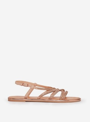Dorothy Perkins Womens Rose Gold 'Figaro' Sandals, Rose Gold
