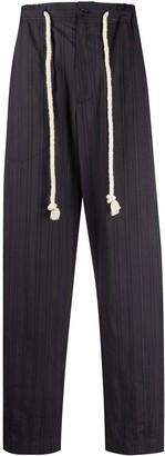 Ann Demeulemeester Striped Tie-Waist Trousers